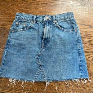 BDG Austin Notched Denim Miniskirt
